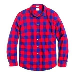 J Crew factory Flannel Checkered Button down Shirt